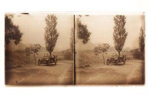 Automobile Antica Francia Placca Da Lente Stereo - Vintage