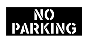 Image Is Loading NO PARKING Stencil Sticker Paint Garage Door Wall