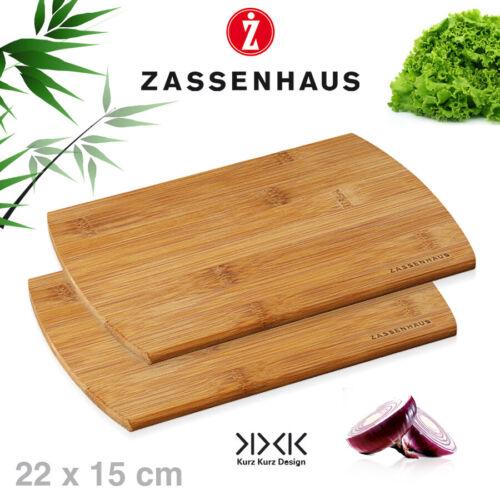 2er-set petit-déjeuner planches de bambou 22x15 cm Zassenhaus