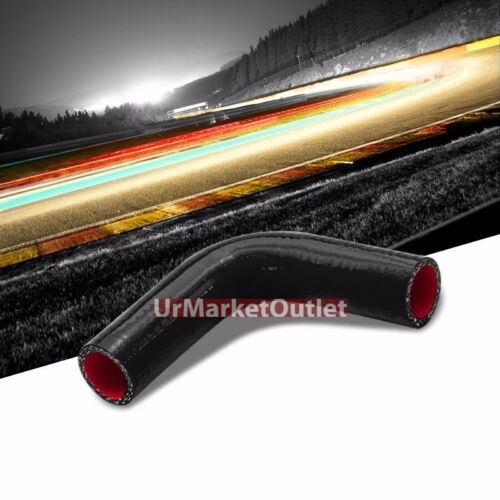"""Black-Red Silicone 1.75/"""" 3-Ply 90 Degree Elbow Hose for Turbo//Intake//Intercooler"""
