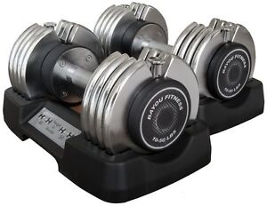 Dumbbells gt see more 2 two 50 lb bayou fitness adjustable pair work