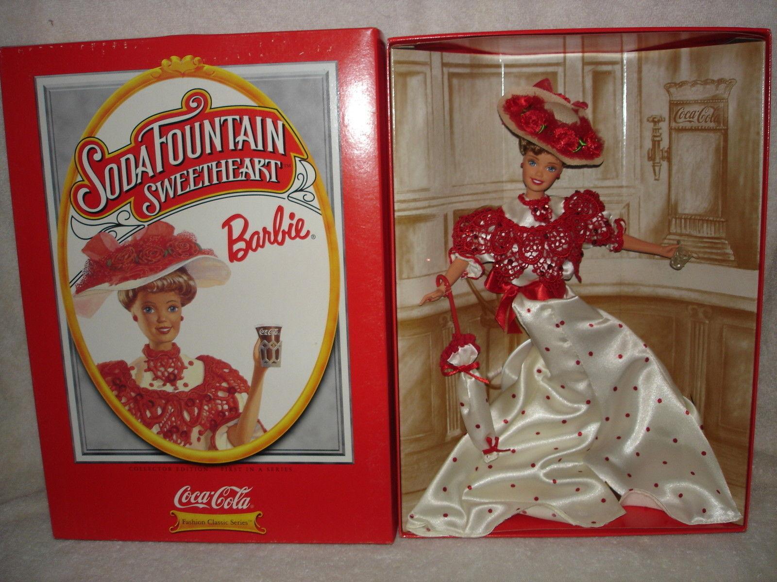 Barbie  coca cola  rar/raras  Soda Fountain Sweetheart  vintage  muñeca  Never