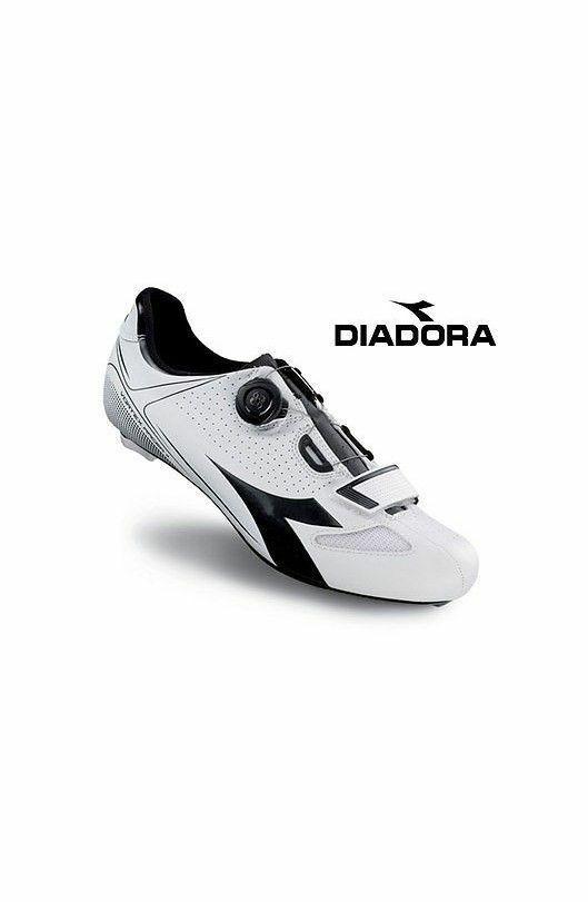 schuhe CICLISMO DIADORA VORTEX-RACER II Farbee BIANCO-schwarz taglia 42