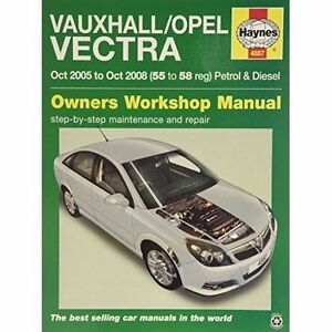 Haynes 4887 Manual for Vauxhall & Opel Vectra 2005-2008