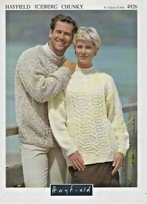 "FAMILY ARAN JUMPER CARDIGAN 24-44/"" 61-112cm ORIGINAL KNITTING PATTERN JAROL 433"