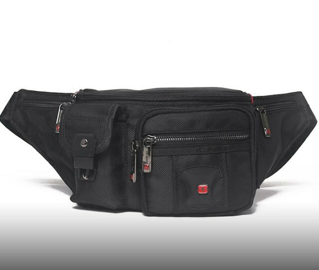24b9841386bd Swiss Gear Waterproof Men Waist Bag Travel Fanny Pack Sport Army Style  Camping 2