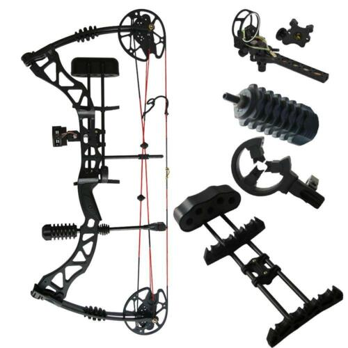 New Archery RTH 35-70Lbs Right Hand Compound Bow /& Hunting Accessories Set Black