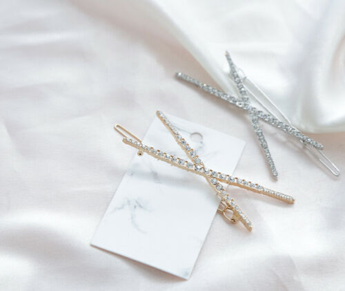 Details about  /Multi CZ Skinny HairclipGold HairclipSilver HairclipHair Jewelry