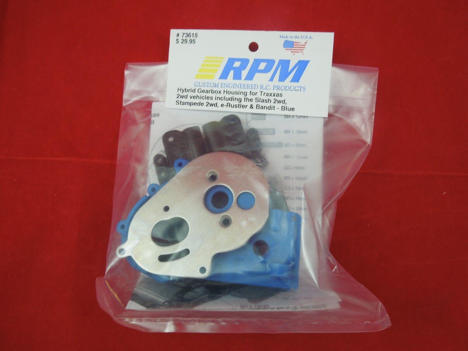 Traxxas Slash RPM Hybrid Gearbox Housing /& Rear Mount Kit Blue RPM73615
