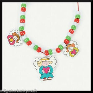 Necklace Craft Kit for Kids Christmas Angel ABCraft