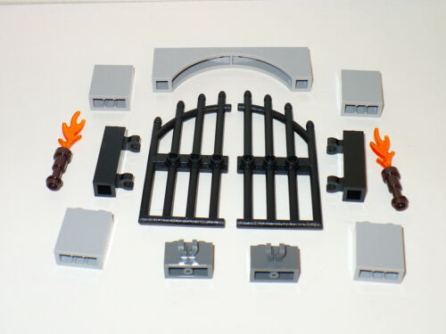 NEW LEGO Castle kingdom village Black iron gate grotto fence archway 70402 city
