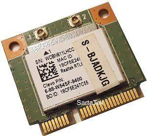 Details about New Clevo P/N 6-88-W54SF-9400 Realtek RTL8723BE 802 11bgn +  BT PCIe Half