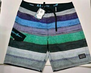 NEW MAUI /& SONS Mens 4 Way Stretch Shark Board Shorts Swim Trunks 32 34 36 NWT