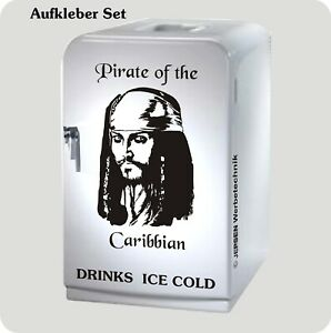 Kuehlschrank-Aufkleber-Set-Pirate-of-the-Caribbian-Jack-Sparrow-schwarz-glanz