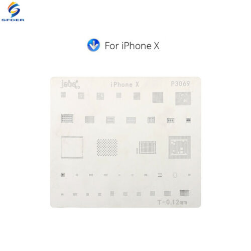 15PCS Motherboard IC Chip Ball Soldering Net Steel Plate for iPhone X CPU Repair