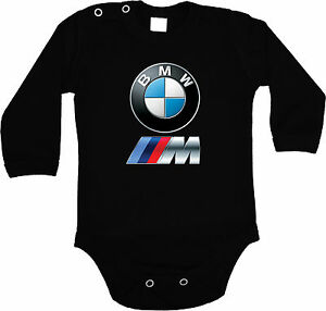 BABY-BLACK-BODY-BMW-POWER-LOGO-BODYSUIT-KURZARM-LANGARM