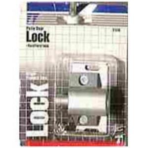 Prime Line U9861 Push In Sliding Door Keyed Lock Aluminum