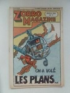 EDITION CHAPELLE /  ZORRO  MAGAZINE  /  NOUVELLE SERIE  NUM 7  /  1951