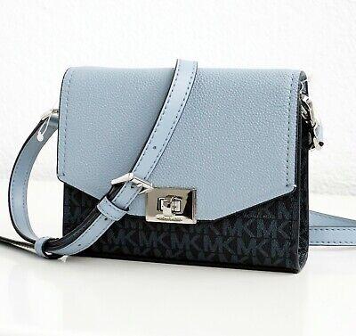 Michael Kors Bag Shoulder Bag Cassie Xbody Crossbody Admiral Pale Blue NEW | eBay