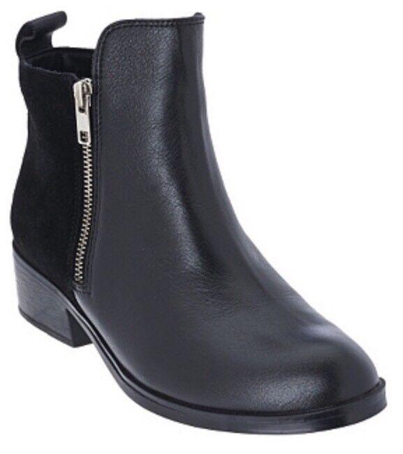 Cougar Leder & Suede Waterproof Ankle Stiefel - Connect BLACK Sz 6 NIB QVC 129