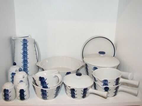 Porcelæn, Lyngby Danild 30  Sennepskrukke, Lyngby