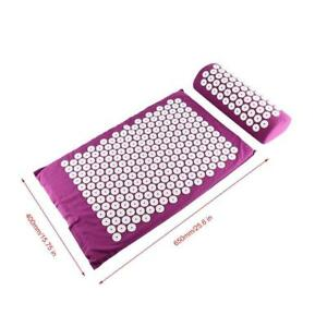 Body-Head-Foot-Neck-Massager-Cushion-Mat-Set-Acupressure-Relieve-Stress-Pain-BE