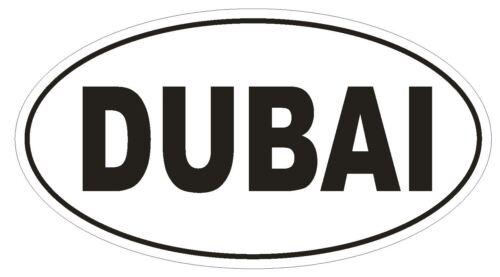 Dubai Oval Bumper Sticker or Helmet Sticker D2180 Euro Oval Country Code