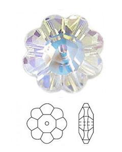 1 Swarovski 3700 Daisy Marguerite Lochrose Fleur Spacer Perle, Cristal Ab, 10 Mm-afficher Le Titre D'origine