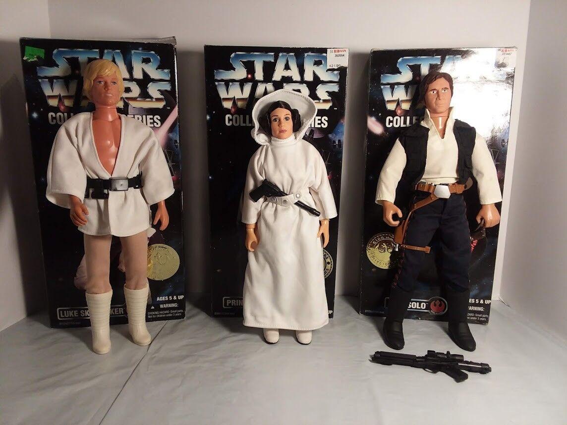 (3) STAR WARS COLLECTOR SERIES 12    Luke Skywalker, Princess Leia & Han Solo 243f4c