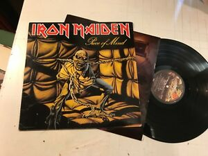 Iron-Maiden-Piece-of-Mind-LP-1983-w-printed-inner-original-st12274-rare-metal