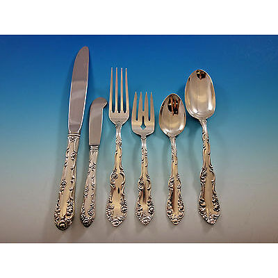 Old English by Towle Sterling Silver Flatware Set for 12 Service 74 pieces
