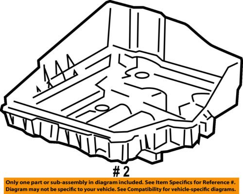 Jeep CHRYSLER OEM 14-17 Compass 2.4L-L4-Battery Tray 5115730AH
