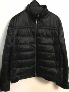 huge inventory 5a8b8 f1503 Details about NWT Prada Women piumino down jacket raso nylon black size 42