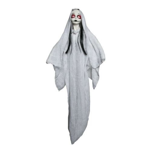 """36/"""" Light Up Sad Girl Ghost Ghoul Gothic Hanging Halloween In//Outdoor Decoration"""