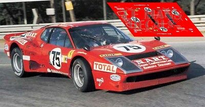 Calcas Ferrari 365 GTB//4  Daytona Le Mans 1971 58 1:32 1:43 1:24 1:18 decals