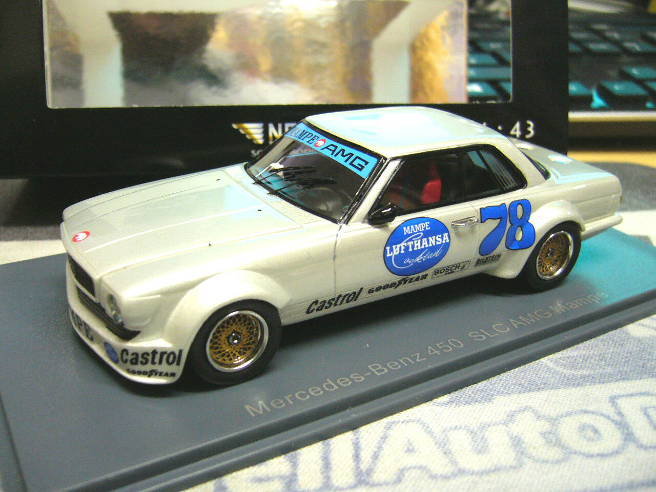MERCEDES 450 slc AMG MAMPE racing  78 test presentation 1978 Neo resin Lim 1 43