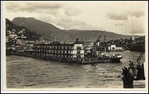 Norge-Norway-Norwegen-Brevkort-AK-1925-BERGEN-Hafen-Harbour-Scene-Szene-AK