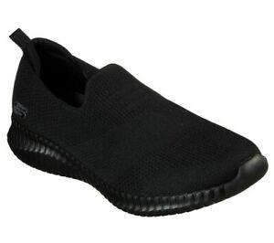 Walk-Skechers-Shoes-Black-Men-Memory-Foam-Comfort-Slipon-Mesh-Casual-Train-52874