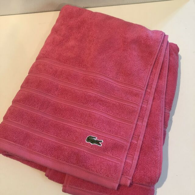 "LACOSTE 1pc BATH TOWEL PINK 30/"" x 54/"" bnwt"