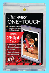 1-Ultra-Pro-ONE-TOUCH-MAGNETIC-260pt-UV-Trading-Card-Holder-Case-Sports-84733-UV