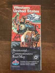 Details about STANDARD OIL Western United States Bicentennial Commemorative  Road Map