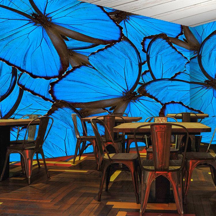 3D Blau Butterflys 56 Wallpaper Wall Print Decal Wall Decor Indoor Mural Lemon