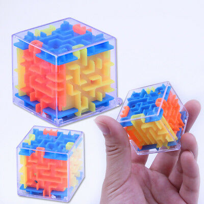 Magical 3d Maze Magic Cube Labyrinth Rolling Toys For Kids Children Puzzle Game~