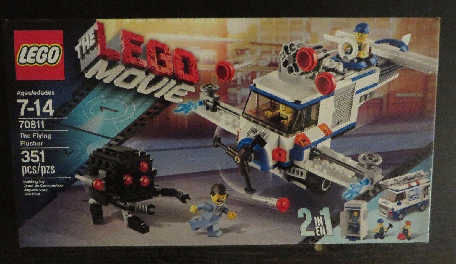 Lego 70811 - Lego Movie - The Flying Flusher - Retired - NISB