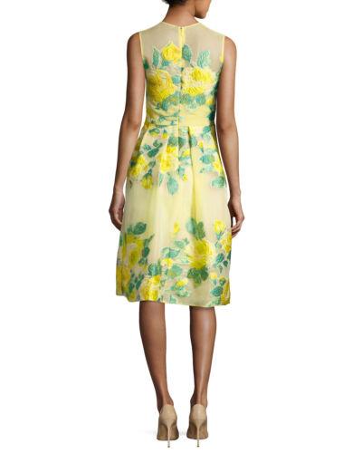 Rosen Rose Gelb Füllung Metallisch 8 Kleid Coupe Lela Blumen Gnade Neu Organza xw4fqYZqF
