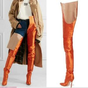 Women Real Leather Pointed Toe Over