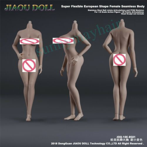 JIAOU DOLL 1//6 European Female Body New Wheat Skin Super Flexible Body Collect