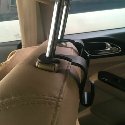 2Pcs Car Seat Truck Coat Hook Purse bag hanging Hanger Auto Bag Organizer Holder