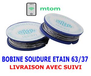 Rouleau-Bobine-Pour-Fil-de-Soudure-Dia-0-7mm-63-Etain-37-Plomb