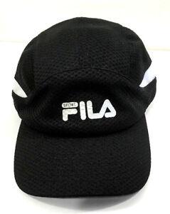 3429b2aae3a FILA SPORT Cap Mesh Baseball Hat Black Panel Running Golf Tennis New ...